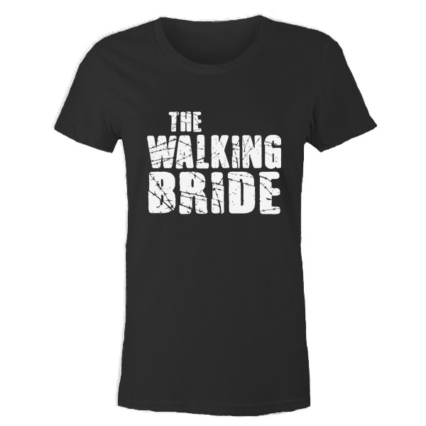 The Walking Bride, gelin tişört, düğün tişört, gelin, bride