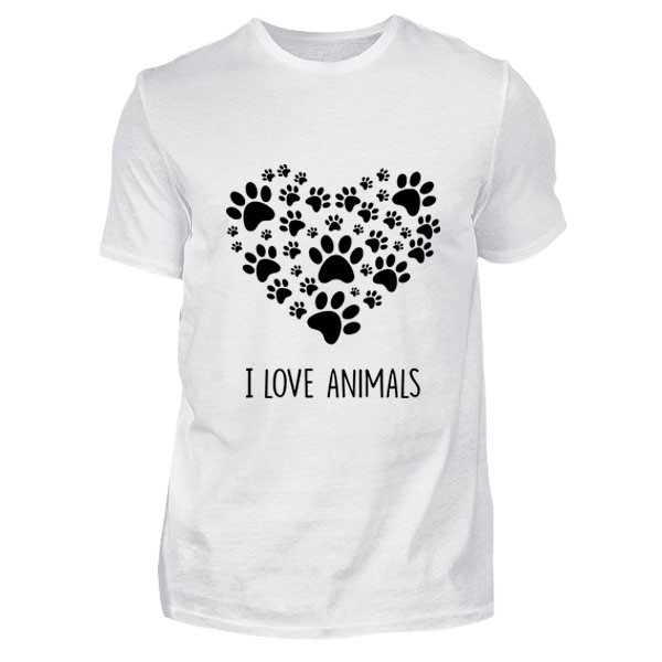 I Love Animals Tişört